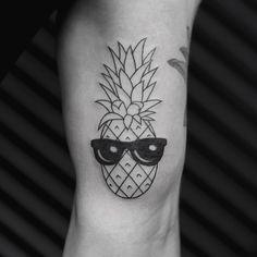 Pineapple Sunglasses Tattoo - See this Instagram photo by @bangbangnyc