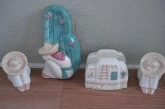 Siesta Man Kitchen Counter Set by Pottery Craft.