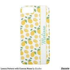 Lemon Pattern with Custom Name iPhone 8/7 Case