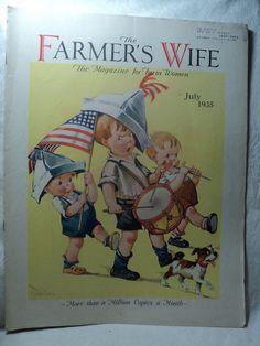 THE FARMER'S WIFE Magazine July 1935 Twelvetrees Kids Patriotic Parade