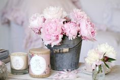 New House Beautiful Pink Shabby Chic 55 Ideas Jardin Style Shabby Chic, Vintage Shabby Chic, Shabby Cottage, Cottage Chic, Pink Peonies, Pink Roses, Peony, Pink Flowers, Shabby Flowers