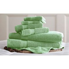 6 Piece Standard Luxury 100% Egyptian Cotton Towel Set Soft Jade - 5CTN650G-JDE-ST