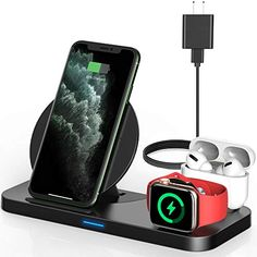 #Powlaken 3 in 1 #WirelessCharger for #AppleWatch, #iPhone and #AirPods