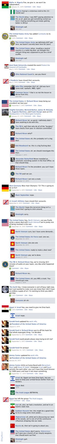 Facebook News Feed History of the World > 1970s