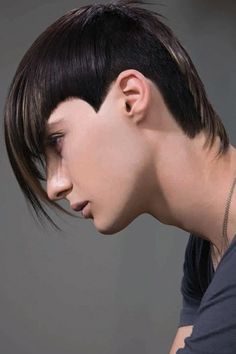 Intense and Strong Black Artistic haircut