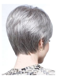 You'll look refined and elegant in a grey wig, so shop now to find Easeful Lace Front Short Synthetic Grey Wigs in the shades and styles you've been searching for! Short Bob Styles, Short Bob Wigs, Short Bob Hairstyles, Wig Hairstyles, Wig Bob, Pixie Haircuts, Short Pixie, Wedding Hairstyles, Grey Curly Hair