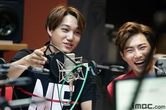 "150418 MBC FB update: ""Behind cuts of #EXO from #Sunny's FM Date!"" - KAI & SUHO"