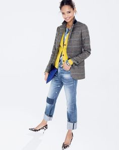 Malaika Firth Wears a Pop of Color in J. Crew's September Style Guide