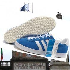 save off aa9c7 b49d3 In linea a buon mercato Adidas gazzella og suede blu bianco formatori  Italia Prezzo conveniente