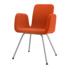 PATRIK Silla sala de juntas - Ullevi naranja, - - IKEA ancho del asiento: 40 cm altura del asiento: 41 cm profundidad del asiento: 40 cm / 40 cm Ancho: 60 cm / 60 cm 115 euros