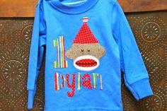 Sock Monkey Birthday Shirt