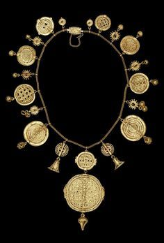 19-century gold necklace from ghana