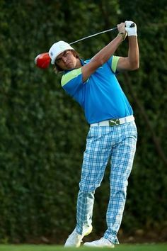 AUGUSTA, GA - APRIL 09:  Rickie Fowler of the United States hits a shot during a practice round prior to the start of the 2013 Masters Tournament at Augusta National Golf Club on April 9, 2013 in Augusta, Georgia.