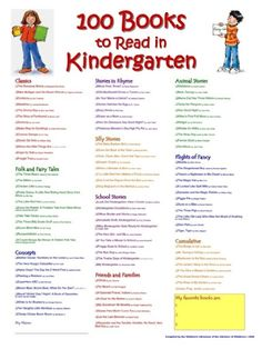 100 Books to Read in Kindergarten - Woodbridge Library. For Allie this will be 100 Books to read BEFORE kindergarten :) Kids Reading, Teaching Reading, Fun Learning, Reading Lists, Learning Tools, Anchor Charts, 100 Books To Read, Kindergarten Literacy, Preschool