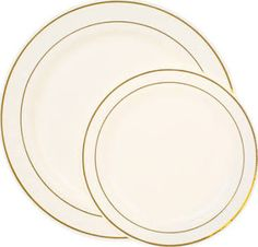 fancy plastic plates - Google Search  sc 1 st  Pinterest & Bulk White Plastic Plates with Woven-Pattern Edge 10.5 in. at ...
