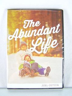 "#Pastor Joel #Osteen #Christian #Ministries ""The Abundant Life"" three (3) piece #religious & #spiritual #audio #CD CD-ROM & #video #DVD DVD-ROM teaching #disc lot/set/series with #sermon message and black clam-shell case & original white/brown paper cover art insert, brand new & unused in clear plastic protective sealed shrink-wrap packaging…"