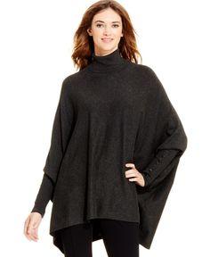 Alfani Turtleneck Poncho Sweater, Only at Macy's - Alfani - Women - Macy's