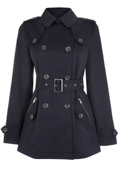 Buy Warehouse Zip Detail Cropped Mac, Navy from our Women's Coats & Jackets range at John Lewis & Partners. Fashion Now, Latest Fashion Clothes, Summer Jacket, Dress And Heels, Jackets Online, New Outfits, Casual Wear, Jackets For Women, Zip
