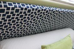 mod navy fabric - potential headboard fabric