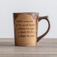 God's Special Purpose Coffee Mug -  II Corinthians 9:8