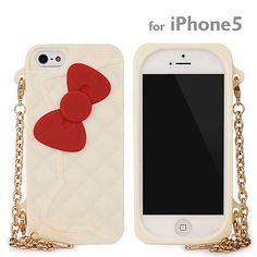 Sanrio Clutch Bag Style Silicone Case Hello Kitty/White for iPhone5