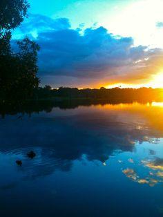 Lake Ainsworth at Sunset, Lennox Head - 2011