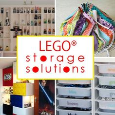 Lego® Storage and Organization  The bottom of your foot can't take it anymore! Time to organize those Legos®!