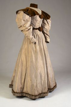 Day dress ca. 1895  From the Kent State University Museum on Pinterest