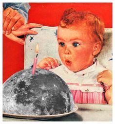Full Moon, Annette von Stahl collage