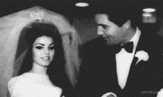 Elvis and Priscilla Presley at the Aladdin Hotel in Las Vegas, NV, May 1, 1967.