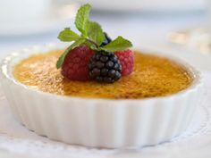 Passion Fruit and Vanilla Bean Creme Brulee