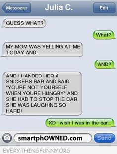 Everything Funny - Page 524 of 1040 - Updated Hourly! - Thousands of Funny Pictures, Funny Text Messages, Funny Memes, Quotes and More for Hours of Entertainment! Funny Shit, Funny Texts Jokes, Text Jokes, Cute Texts, Epic Texts, Funny Stuff, Funny Text Fails, Funny Texts To Mom, Funny Things