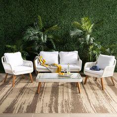 White Patio Furniture, Resin Patio Furniture, Backyard Furniture, Outdoor Furniture Sets, Furniture Ideas, Contemporary Outdoor Furniture, Furniture Movers, Apartment Furniture, Furniture Inspiration