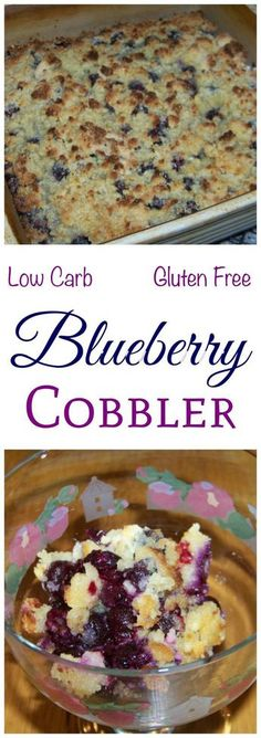 This is a really simple low carb blueberry cobbler recipe with a gluten free topping that tastes just like the real thing. Quick and easy to prepare. Sugar Free Keto Recipe