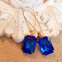 Hey, I found this really awesome Etsy listing at https://www.etsy.com/listing/249151280/sapphire-earrings-art-deco-jewelry
