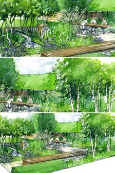RHS Hampton Court Palace Flower Show 2014 - Vestra Wealth's Vista by Paul Martin ♥ Inspirations, Idées & Suggestions, JesuisauJardin.fr, Atelier de paysage Paris, Stéphane Vimond Créateur de jardins ♥