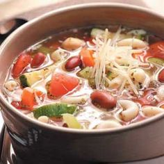 Easy Minestrone Slow Cooker Recipe from Taste of Home