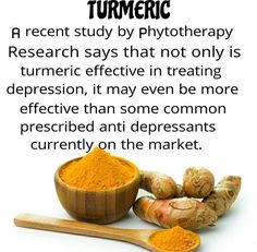 This is amazing! Research study about #turmeric effective in treating #depression !