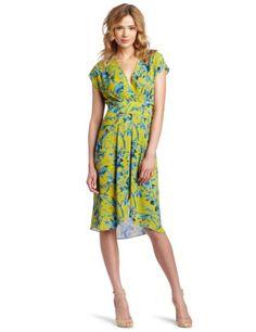 BCBGMAXAZRIA Women's Thia Pleated Waist Wrap Detail Dress in Golden Canary Dress Outfits, Fashion Outfits, Womens Fashion, Dress Clothes, Wrap Clothing, Bcbgmaxazria Dresses, The Dress, Work Wear, Wrap Dress
