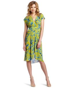 Pleated Waist Wrap Detail Dress