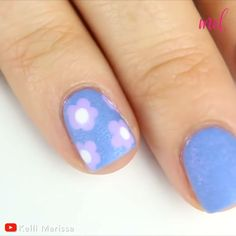 Spice up your accent nails even more with these ideas! 😍 By Kelli Marissa on Youtube Accent Nail Designs, Gel Nail Art Designs, Short Nail Designs, Nails Design, Pastel Nail Art, Colorful Nail Art, Gel Polish Colors, Nail Colors, Accent Nails