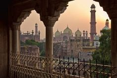 View of the old city of Lahore, Pakistan.