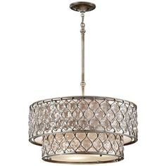 "Murray Feiss Lucia 24 1/2"" W Burnished Silver Pendant Light"