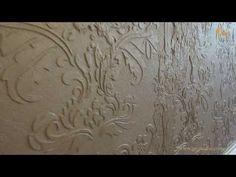 Создание декоративного орнамента с использованием трафарета - YouTube