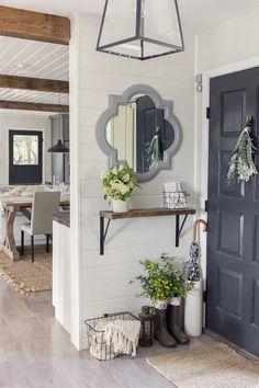 Small but Decorative Entryway Mirror