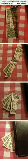 Origami dollar best way to leave a prank!