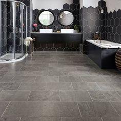 Karndean Flooring Da Vinci Drift - Vinyl Tiles from DMS Flooring Supplies UK Vinyl Flooring Bathroom, Bathroom Vinyl, Luxury Vinyl Flooring, Luxury Vinyl Tile, Vinyl Tiles, Kitchen Flooring, Master Bathroom, Bathroom Ideas, Kitchen Vinyl