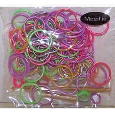 Metallic Rainbow Loom Bands