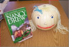 Nancy Drew Book Pumpkin