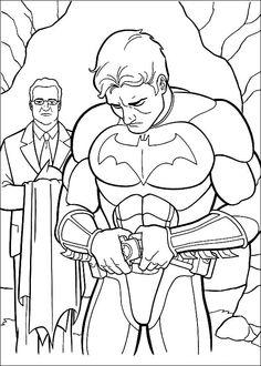 Batman Fargelegging for barn. Tegninger for utskrift og fargelegging nº 21